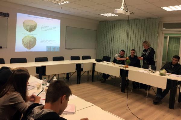 Виїзне заняття з дисципліни «Товарознавство фруктоовочевих товарів» на базі ТзОВ «РСП» Шувар»