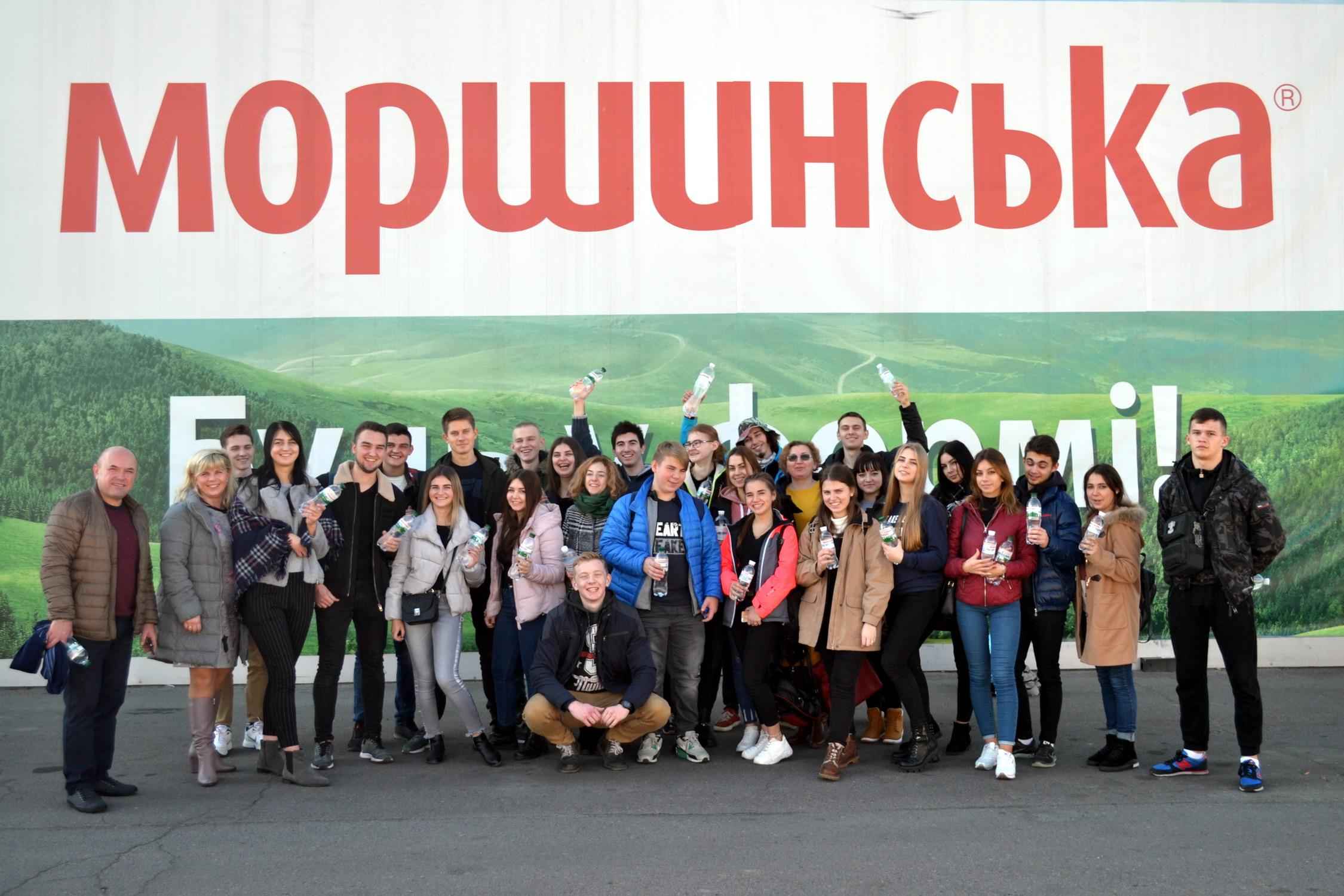Виїзні заняття на ПрАТ «Моршинський завод мінеральних вод»